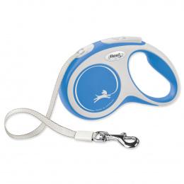 Поводок-рулетка для собак – Flexi New Comfort Tape Leashes S 5 м, Blue