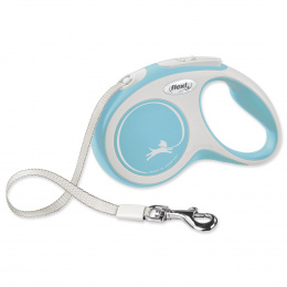 Inerces pavada suņiem - Flexi New Comfort Tape Leashes S 5m, light blue