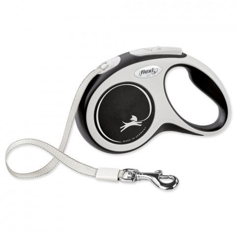 Inerces pavada suņiem – Flexi New Comfort Tape Leashes S 5 m, Black title=