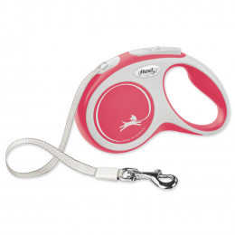 Inerces pavada suņiem - Flexi New Comfort Tape Leashes S 5m, red