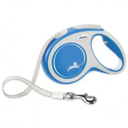 Поводок-рулетка для собак – Flexi New Comfort Tape Leashes M 5 м, Blue