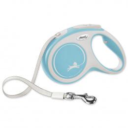 Поводок-рулетка для собак – Flexi New Comfort Tape Leashes M 5 м, Light Blue