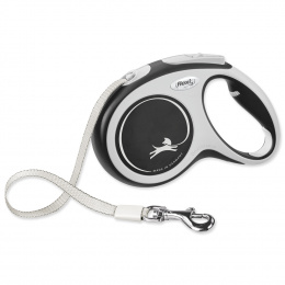 Inerces pavada suņiem – Flexi New Comfort Tape Leashes M 5 m, Black