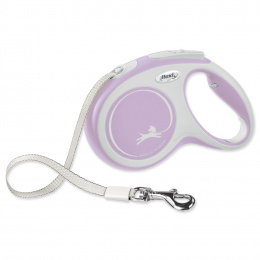 Поводок-рулетка для собак – Flexi New Comfort Tape Leashes M 5 м, Pink