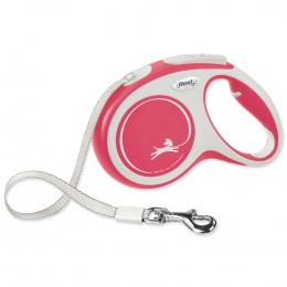 Поводок-рулетка для собак – Flexi New Comfort Tape Leashes M 5 м, Red