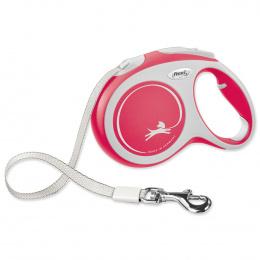 Поводок-рулетка для собак – Flexi New Comfort Tape Leashes L 5 м, Red
