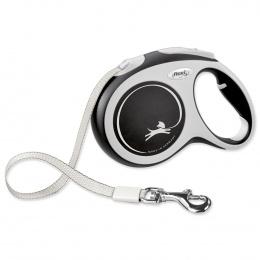 Inerces pavada suņiem – Flexi New Comfort Tape Leashes L 5 m, Black
