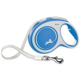 Поводок-рулетка для собак - Flexi New Comfort Tape Leashes L 8m, blue