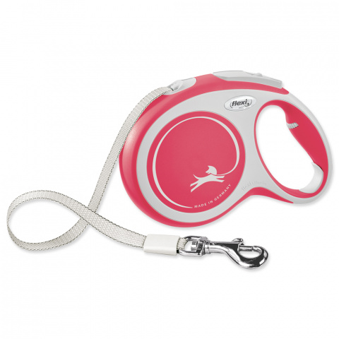 Inerces pavada suņiem – Flexi New Comfort Tape Leashes L 8 m, Red title=