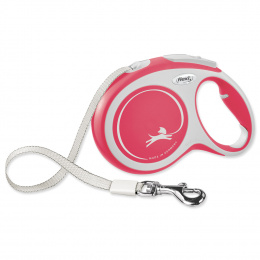 Поводок-рулетка для собак – Flexi New Comfort Tape Leashes L 8 м, Red