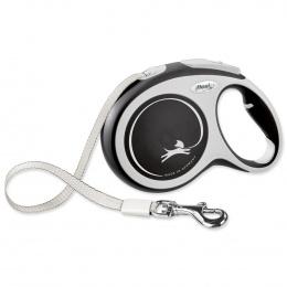 Inerces pavada suņiem – Flexi New Comfort Tape Leashes L 8 m, Black