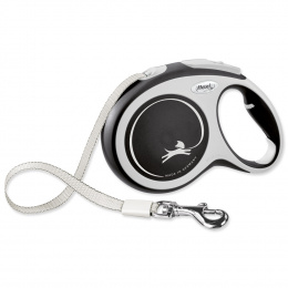 Поводок-рулетка для собак - Flexi New Comfort Tape Leashes L 8м, black