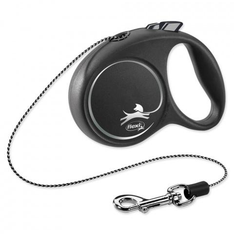 Inerces pavada suņiem - Flexi Black Design XS Cord 3m, black title=