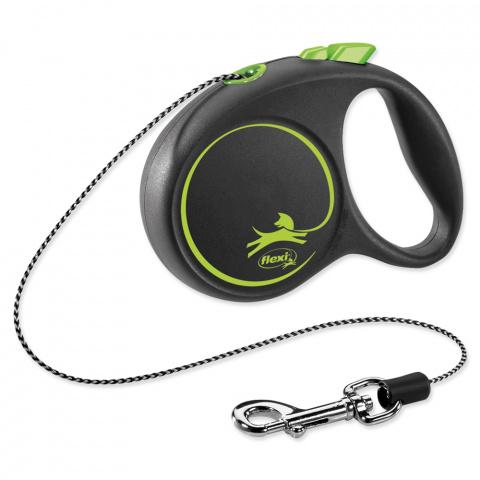 Inerces pavada suņiem - Flexi Black Design XS Cord 3m, green title=