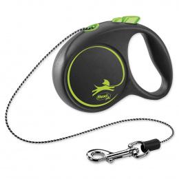 Поводок-рулетка для собак – Flexi Black Design XS Cord 3 м, Green