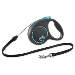 Поводок-рулетка для собак - Flexi Black Design S Cord 5м, blue