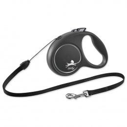 Inerces pavada suņiem – Flexi Black Design S Cord 5 m, Black