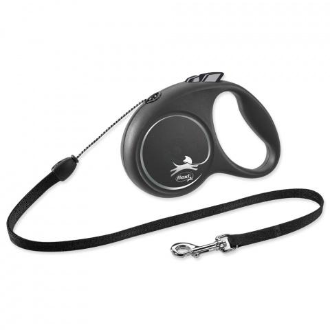 Inerces pavada suņiem - Flexi Black Design S Cord 5m, black title=