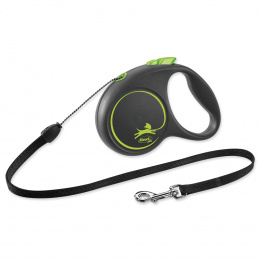 Поводок-рулетка для собак - Flexi Black Design S Cord 5м, green