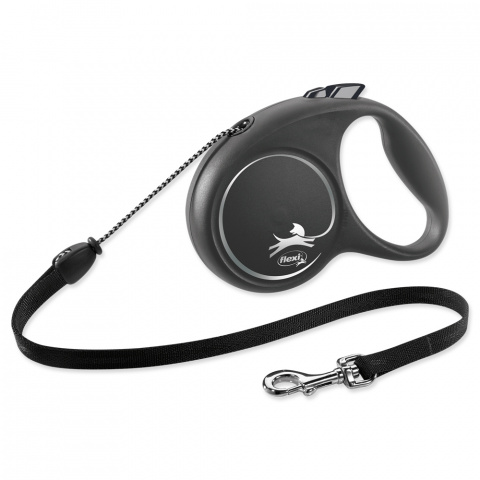 Inerces pavada suņiem - Flexi Black Design M Cord 5m, black title=