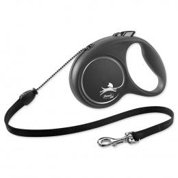 Поводок-рулетка для собак - Flexi Black Design M Cord 5м, black