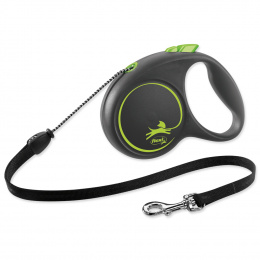 Inerces pavada suņiem - Flexi Black Design M Cord 5m, green
