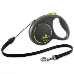 Поводок-рулетка для собак - Flexi Black Design M Cord 5м, green