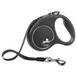Поводок-рулетка для собак - Flexi Black Design S Tape 5м, black