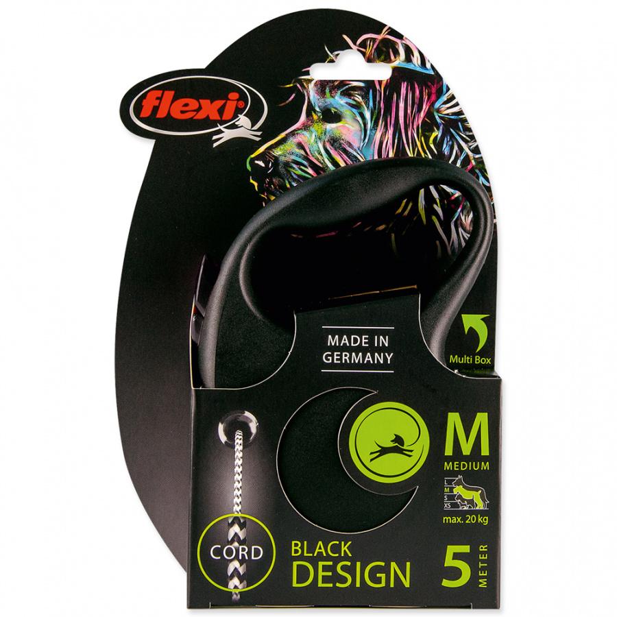 Inerces pavada suņiem - Flexi Black Design M Cord 5m, black