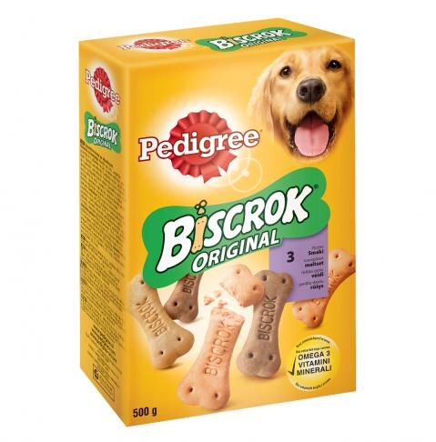 Gardums suņiem - Pedigree Biscrok, 500 g title=