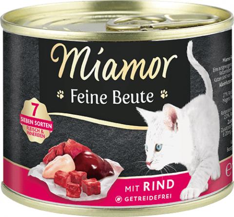 Консервы для кошек - Miamor Feine Beute Beef, 185 г title=