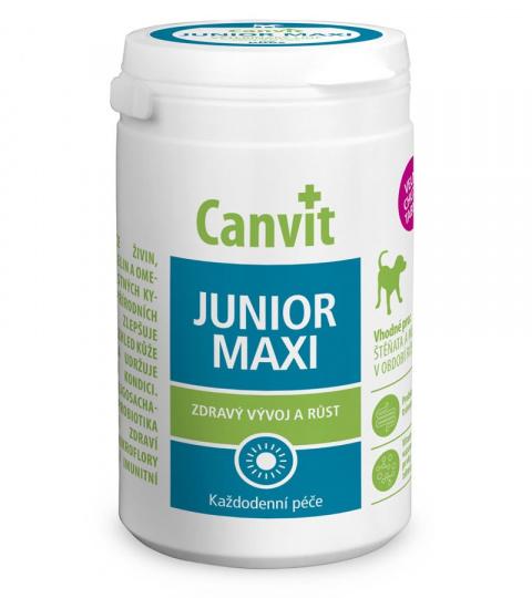 Vitamīni kucēniem - Canvit Junior Maxi tablets, 230 g title=