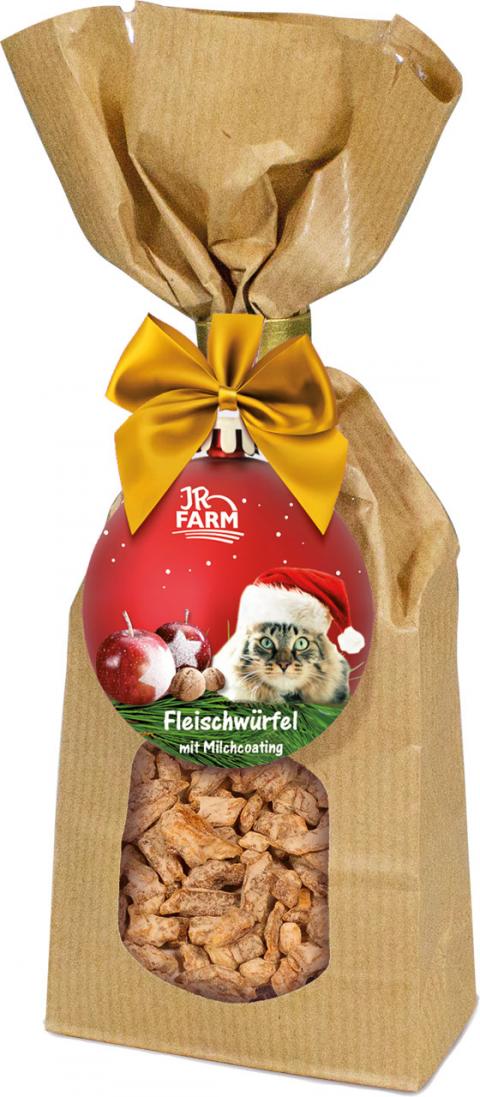 Лакомство для кошек - JR Farm Christmas Milky Bits chicken filet, 75 г title=