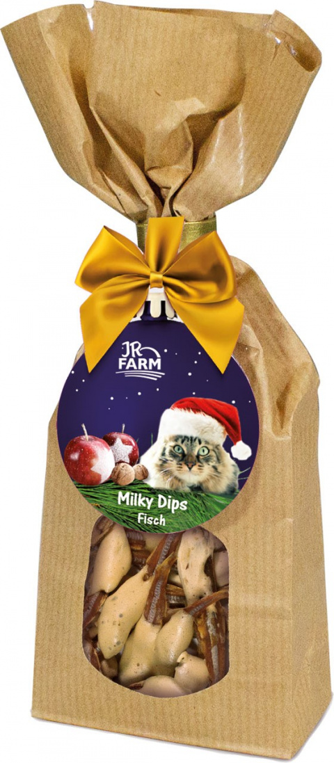 Gardums kaķiem - JR Farm Christmas Milky Dips Fish, 30 g
