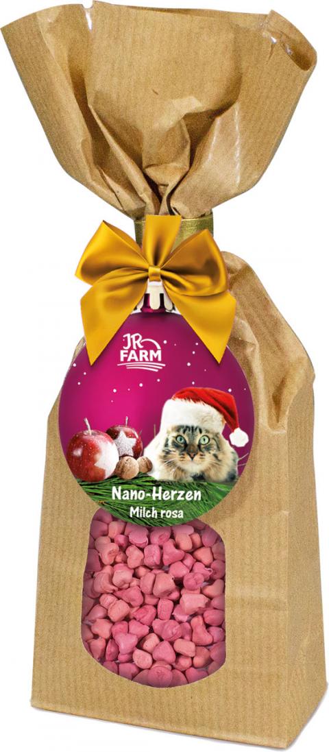 Лакомство для кошек - JR Farm Christmas Milky Hearts, 100 г title=