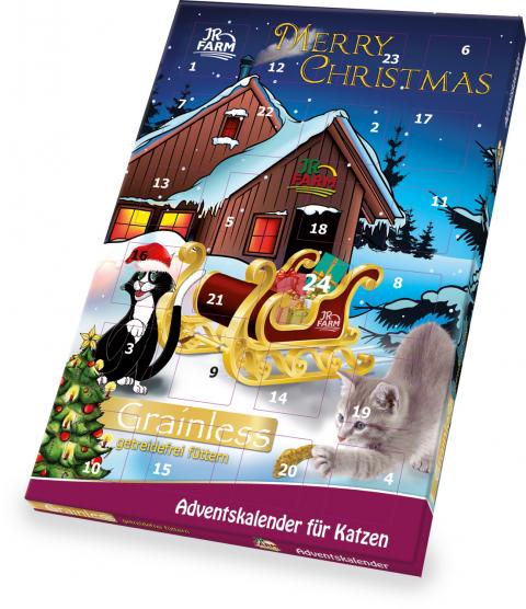 Рождественский календарь для кошек - JR Farm Cat Grainless Advent Calendar, 100 г title=