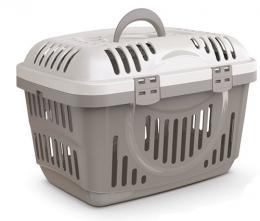 Transportēšanas konteineris dzīvniekiem - Rocket Classic pet carrier with top opening, grey, 49x33x33 cm