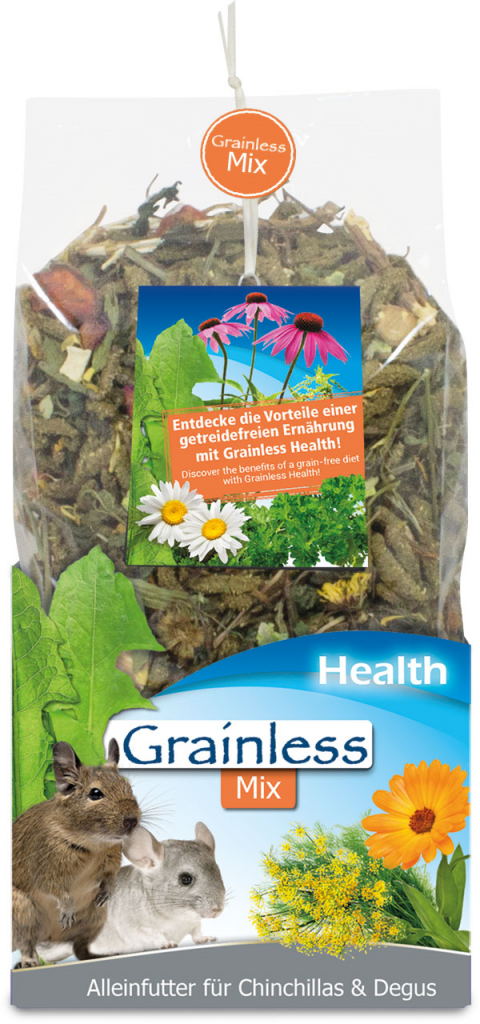 Корм для шиншилл и дегу - JR Grainless Health Mix Chinchilla and Degu, 600 г title=