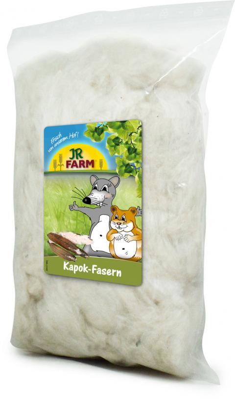 Vate ligzdas veidošanai grauzējiem - JR Farm Kapok Fibres, 20 g title=