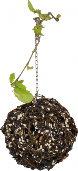 Rotaļlieta/gardums putniem - JR FARM Gourmet Willow Ball large, 300 g