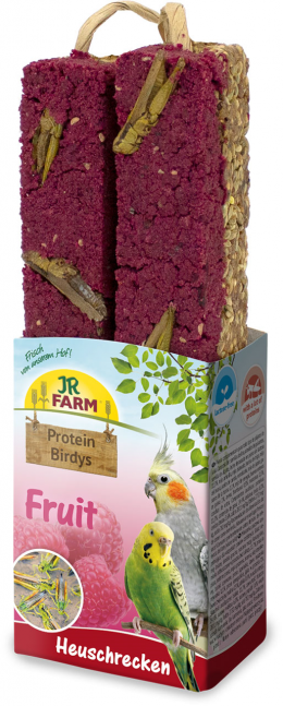 Gardums putniem – JR FARM Protein-Birdys Fruit Grasshoppers, 150 g