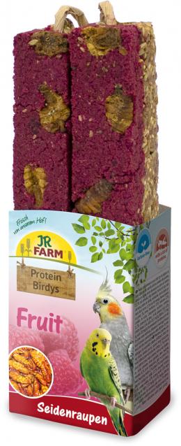 Gardums putniem – JR FARM Protein-Birdys Fruit Silkworms, 150 g