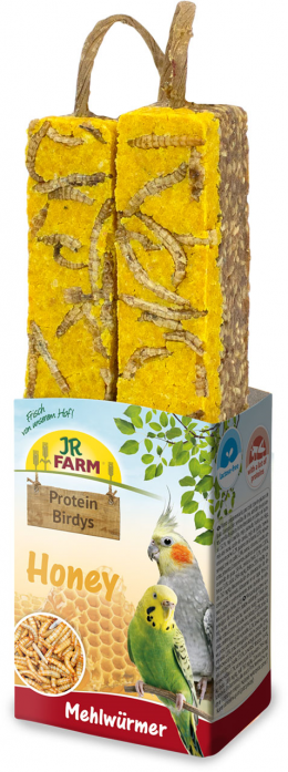 Лакомство для птиц - JR FARM Protein-Birdys Honey Mealworms, 150 г