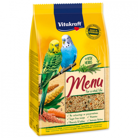 Barība putniem - Menu for Budgies (hone) 1 kg