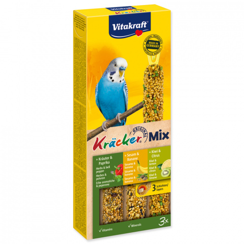 Лакомство для птиц - Kracker*3 for Budgies (banana+kiwi+figg)