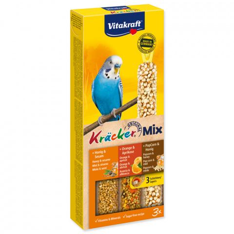 Лакомство для птиц - Kracker*3 for Budgies (honey+оранжевый+popfit)