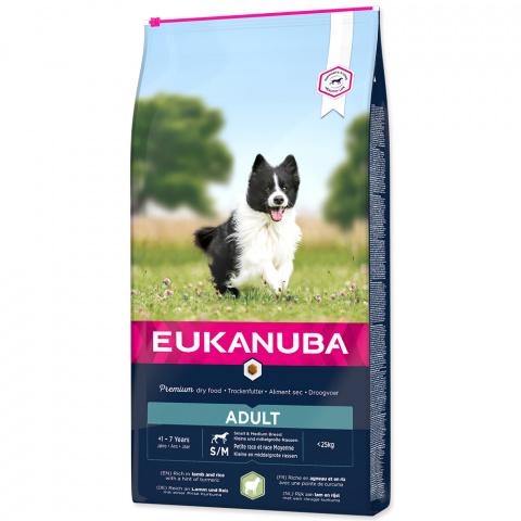 Barība suņiem - Eukanuba Adult Lamb & Rice, 12 kg title=