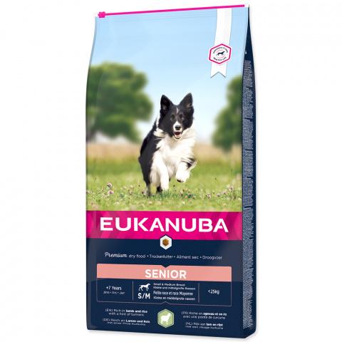 Barība suņiem senioriem - Eukanuba Mature and Senior Lamb and Rice, 12 kg title=