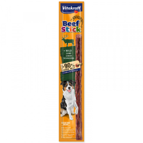 Gardums suņiem – Vitakraft Beef Stick with Wild, 12 g title=