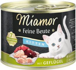 Konservi kaķēniem - Miamor Feine Beute Poultry, 185 g